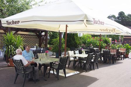 """Sonnenterrasse Gasthof """"Grüner Baum"""" Langfurth"""
